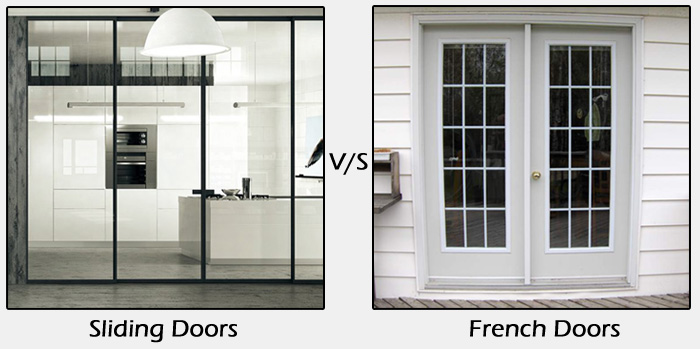 Comparison between sliding doors and french doors